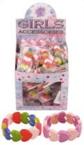 Kid's Plastic Hearts Bracelets Party Favour - 60pk