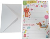 Hand Print Party Invitation Sheets & Envelopes 20pk