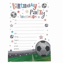 Football Birthday Party Invitation Sheets & Envelopes 20pk