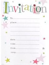 Star Print Invitation Sheets & Envelopes 20pk