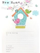 Birdhouse New Home Address Sheets & Envelopes 20pk
