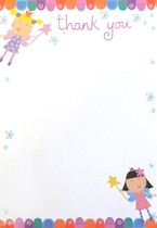 Fairy Thank You Notes & Envelopes 20pk