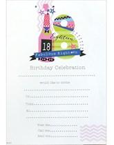 18th Birthday Party Invitation Sheets & Envelopes 20pk