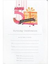 50th Birthday Party Invitation Sheets & Envelopes 20pk