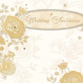 Golden Wedding Invitations with Envelopes - 6pk