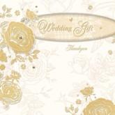 Golden Wedding Gift Thank You Cards with Envelopes - 6pk