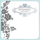 Flowers Wedding Evening Invitations with Envelopes - 6pk