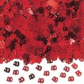 40th Ruby Wedding Anniversary Confetti