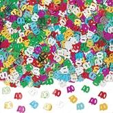 Age 40 Multi Coloured Birthday Confetti