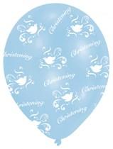 "Blue Christening 11"" Latex Balloons 6pk"