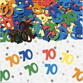 Age 70 Multicoloured Birthday Confetti