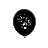 "Oh Baby Gender Reveal Boy 16"" Black Latex Balloon"