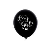 "Oh Baby Gender Reveal 16"" Black Latex Balloon"
