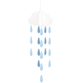 Oh Baby Hanging Clouds And Blue Droplets 2pk