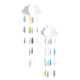 Oh Baby Hanging Clouds And Multi Coloured Droplets 2pk