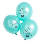 "Oh Baby Mint Printed 11"" Latex Balloons 6pk"