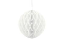 White Hanging Honeycomb Ball 20cm Decoration