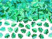 Green Metallic Foil Leaves Confetti 15g
