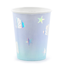 Narwhal Iridescent Printed Paper Cups 6pk