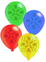 """Age 2 Assorted 10"""" Latex Balloons 8pk"""