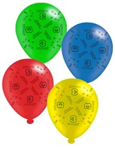 """Age 3 Assorted 10"""" Latex Balloons 8pk"""