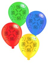 """Age 21 Assorted 10"""" Latex Balloons 8pk"""