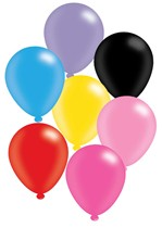 """Assorted Colour 10"""" Latex Balloons 8pk"""