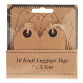 Scalloped Kraft Luggage Tags 10pk