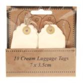Scalloped Ivory Luggage Tags 10pk