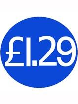 1000 Blue £1.29 Price Stickers - Single Roll