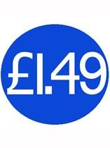 1000 Blue £1.49 Price Stickers - Single Roll