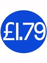 1000 Blue £1.79 Price Stickers - Single Roll