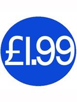 1000 Blue £1.99 Price Stickers - Single Roll