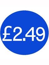 1000 Blue £2.49 Price Stickers - Single Roll
