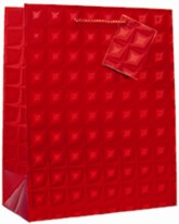 Large Red Holographic Gift Bag 6pk