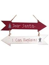 Dear Santa I Can Explain Christmas Wooden Signs 2pk