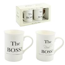 The Boss & The Real Boss Mug Set