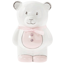 Pink Teddy Ceramic Money Bank