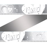 30th Pearl Anniversary Wishes Foil Banner