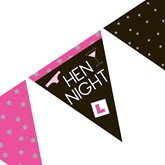 Hen Night L Plate Flag Banner