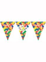 Block Party Happy Birthday Flag Banner