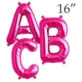 """16"""" Magenta Letter Foil Balloons"""