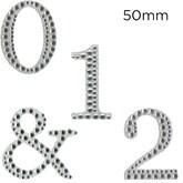 Eleganza Diamante Craft Letter Numbers & Symbols 5cm 0-9
