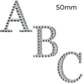 Eleganza Diamante Craft Letter Stickers 5cm A-Z