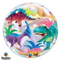 Dinosaur party balloon Qualatex Bubble