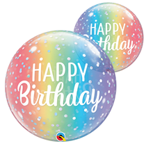 Happy Birthday Ombre Qualatex Bubble Balloon