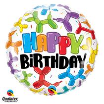Happy Birthday Latex Balloon Dog 18 inch foil balloon
