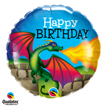 Fire breathing dragon 18 inch foil balloon party decoration