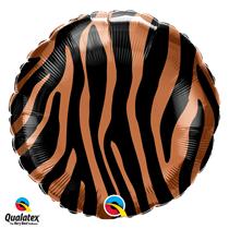 Tiger Stripe Fur Print 18 inch foil balloon decoration jungle