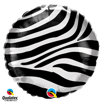 Zebra stripes Fur Print 18 inch foil balloon decoration jungle